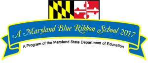 blue ribbon flag