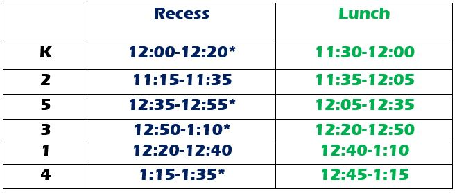 lunch recess revised